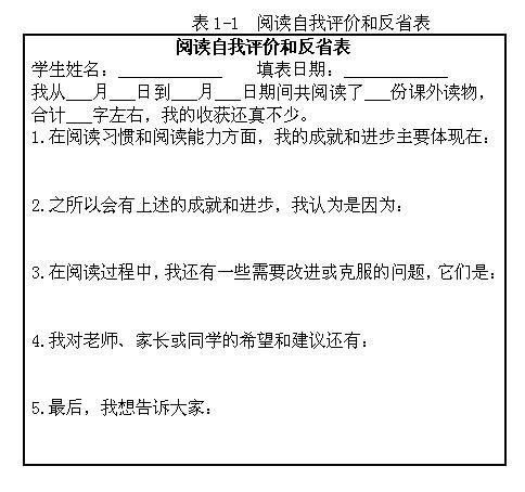 课外阅读记录卡封面_小学语文教学论